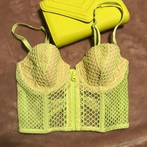 Neon green Victoria's Secret bralette